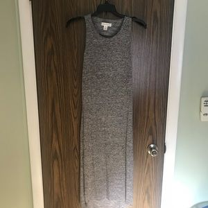 Heather grey maxi dress